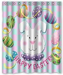 Easter rabbit egg Stylish Living Elegant Bathroom Shower Curtain