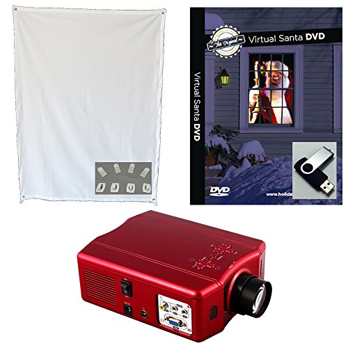 Virtual Santa Projector Kit With Projector Window