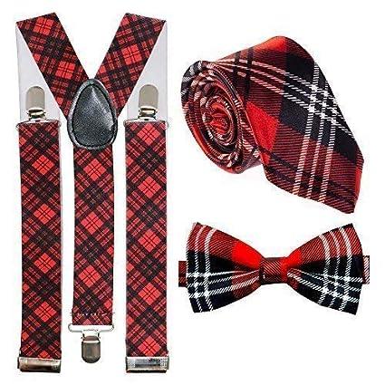 """B TARTAN Royal Red Stewart Skinny Necktie-2/"""" Width/>More Ties U Buy/>More U Save"""