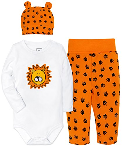 Lion Body - ShengShi Baby Boys' 3 Piece Bodysuits, Baby Girls Unsiex Cap Pant Sets Newborn Jumpsuit