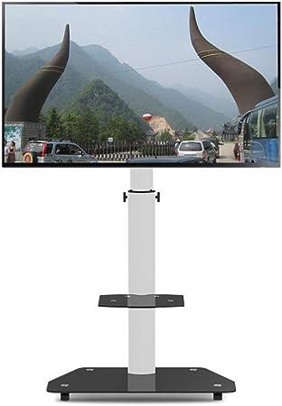 Carro de TV móvil universal pantalla plana Rolling TV stand Trolley consola soporte para 32 a