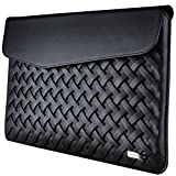Laptop Case, Tablet Sleeve, SRS DIGICH 11 Inch Laptop Sleeve Case with Waterproof PU Leather and Soft lining for Apple MacBook MMGL2CH/A iPad Pro 10.5 Microsoft surface pro 3 Huawei MateBook Black