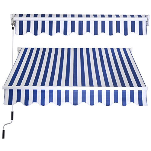 eight24hours-manual-patio-8265-retractable-deck-awning-sunshade-shelter-canopy-outdoor-stripe-blue-w