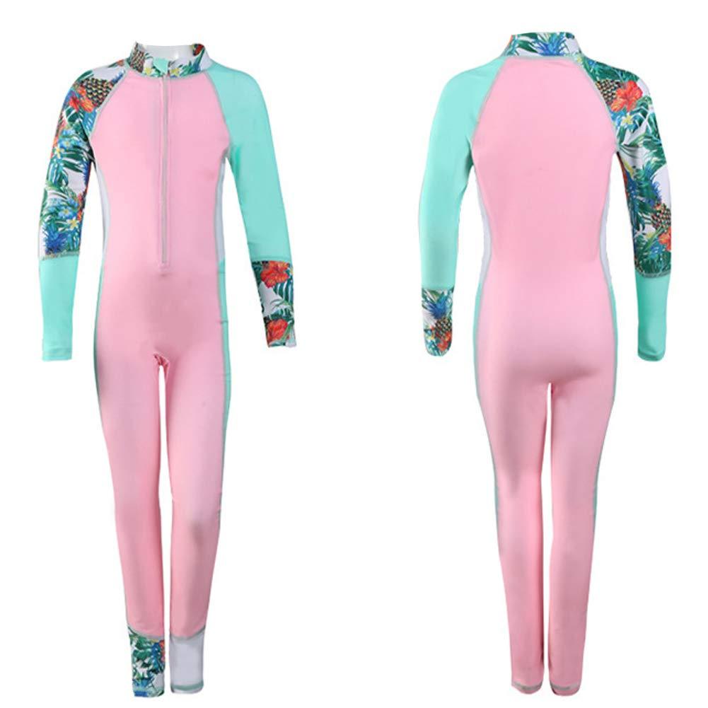 Kids Boy /& Girl Swimsuits Long Sleeve Full Body Rashguard 1PCS Bathing Suits UV Sun Protection Wetsuits Swimwear Diving Suit