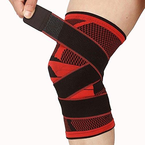 jiayit The Bumper Compression Knee Brace Sports Compression Knee Brace For Running Jogging Support Breathable ()