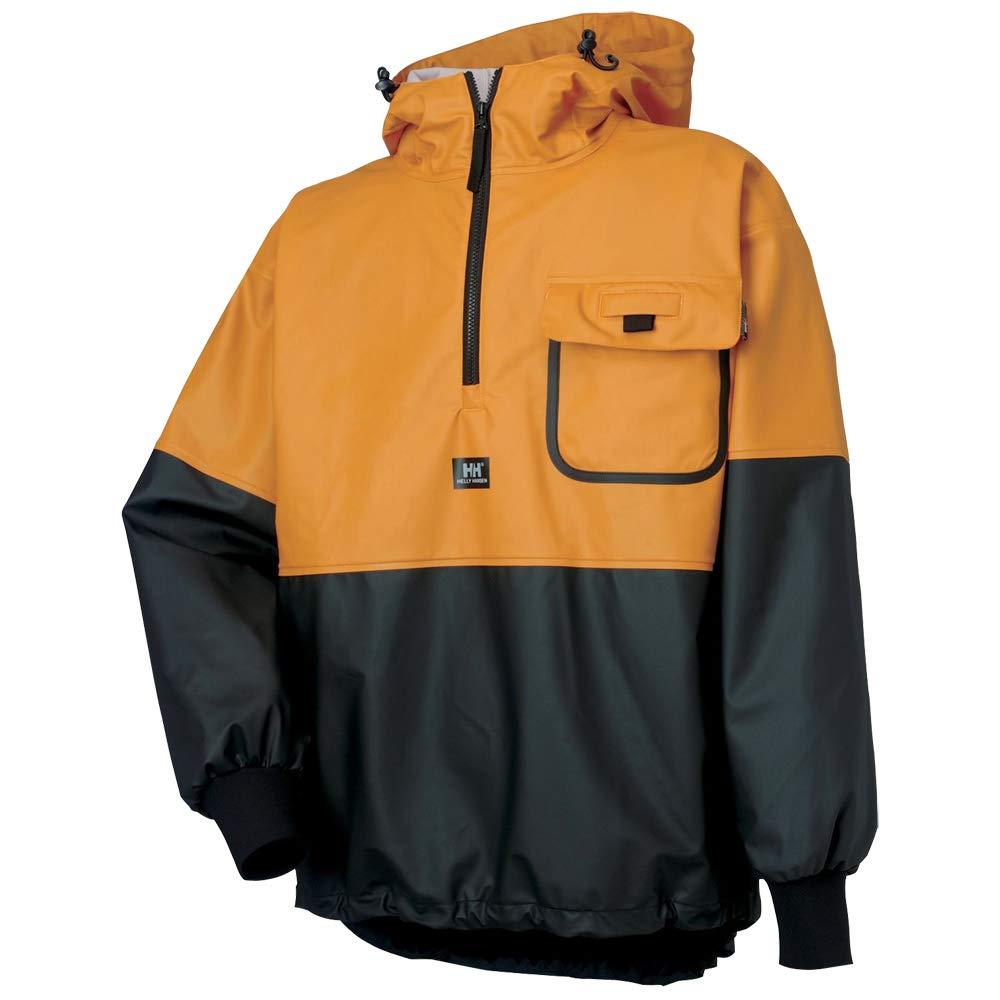 Helly Hansen Workwear Roan Fishing Guide Anorak Jacket, Ochre/Charcoal, L by Helly Hansen