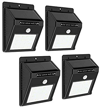 Solar Lights Outdoor Security Lighting - Wireless - 4 Pack