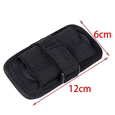 UltraFire Tactical Stretchy Flashlight Holster Pouch Holder with 360 Degrees Rotatable Clip for WF-502B T6 L2 C8 Flashlight Black