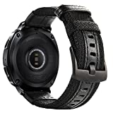 20mm Gear Sport/Gear S2 Classic Bands, Maxjoy Nylon Replacement Strap Wrist Band for Samsung Gear Sport SM-R600/ Gear S2 Classic SM-R732 & SM-R735 Smart Watch,Black