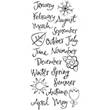 Karen Foster Clear Stickers 5-inch-by-13-inch,-Months of the Year