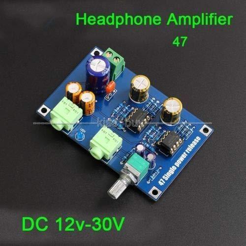 FidgetKute Single Power Supply DA47 Portable Headphone Amplifier PCB HiFi DIY AMP Kit 12V 2
