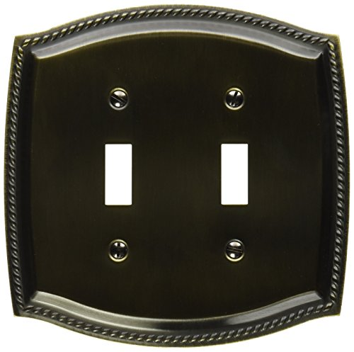 le Toggle Rope Switch Plate, Antique Brass (Brass Rope Plate)