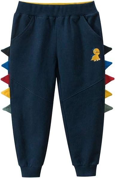 LAUSONS Pantalones Deportivos Dinosaurio Impresión Niños Chándal Algodón Elástico Cintura: Amazon.es: Ropa y accesorios