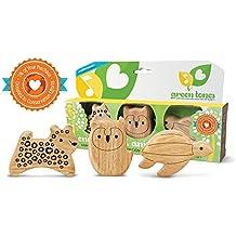 Green Tones/Endangered Animal Shaker Set