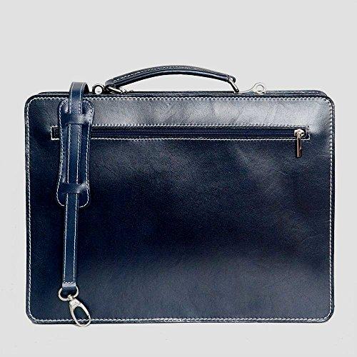 portable ordinateur UNISEX Bleu mod Italie bandoulière avec sac de cuir 2027 Fichier p business BqIZTT