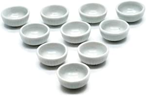 10 White Cearmic Plate Dish Bowl Dollhouse Miniatures Food Kitchen No 59 by Cool Price