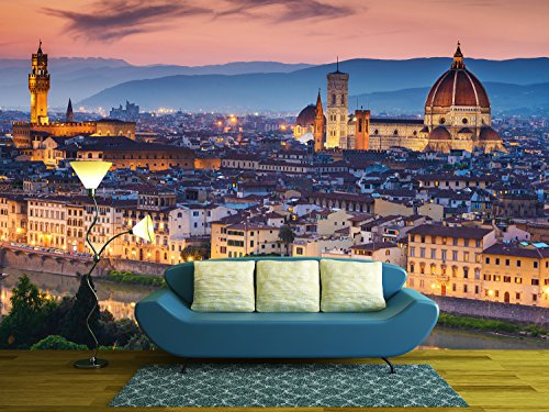 Beautiful sunset over Cathedral of Santa Maria del Fiore (Duomo) Florence Italy