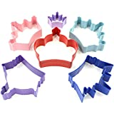 R&M International 1801 Princess Crown Cookie Cutters, Assorted Sizes, 6-Piece Set