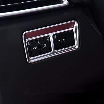 Cabeza interruptor de luz Marco bisel embellecedor de lámpara de cabeza botón ABS mate 1pc/set: Amazon.es: Coche y moto