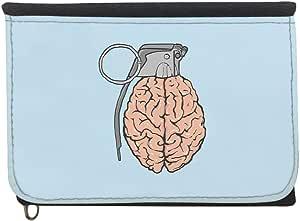 محفظة  بتصميم حدود العقل  ، قماش جينز