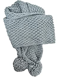 Women's Rampage Knit Gray Scarf