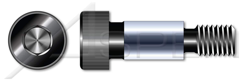 (75 pcs) 5/16''-18 X 3'', Shoulder Screws, Hex Socket Drive, Alloy Steel