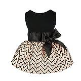Fitwarm Elegant Princess Pet Dress for Dog Clothes Vest Shirts, Salmon, Medium