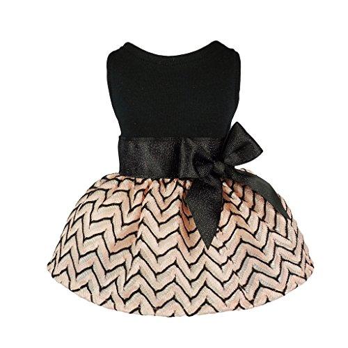 Fitwarm Elegant Princess Pet Dress for Dog Clothes Vest Shirts, Salmon, Medium by Fitwarm