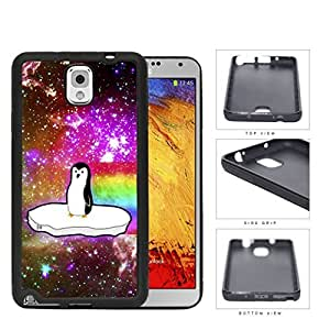 Penguin Floating On Ice Nebula Rubber Silicone TPU Cell Phone Case Samsung Galaxy Note 3 III N9000 N9002 N9005 by lolosakes