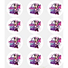 """Deco Twelve 2"""" Minnie Mouse Edible Cupcake Images Toppers Rations"""