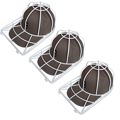 Hat Washer, 3-Pack Cap Washing Cage for Baseball Hats, Ball Caps, Cap Holder,Hat Hanger,Cap Shape Protector,Cap Organizer ()