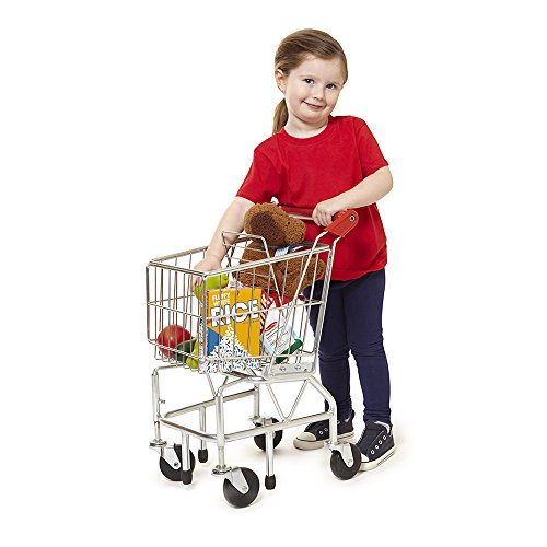 51EMRPoZZtL - Melissa & Doug Toy Shopping Cart With Sturdy Metal Frame