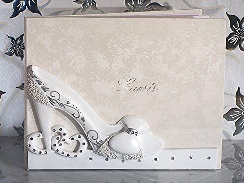 Belle of The Ball cinderella shoe design wedding Guest Book From (Princess Collection Guest Book)