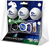 LinksWalker NCAA Creighton University Bluejays - 3 Ball Gift Pack with Key Chain Bottle Opener
