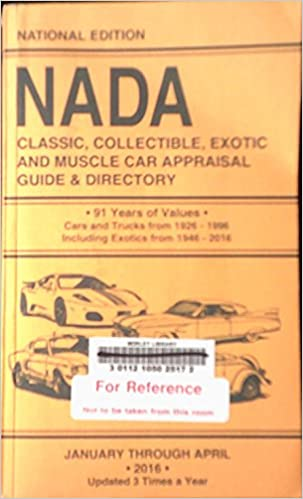 Nada Classic Cars >> Nada Classic Collectible Exotic And Muscle Car Appraisal