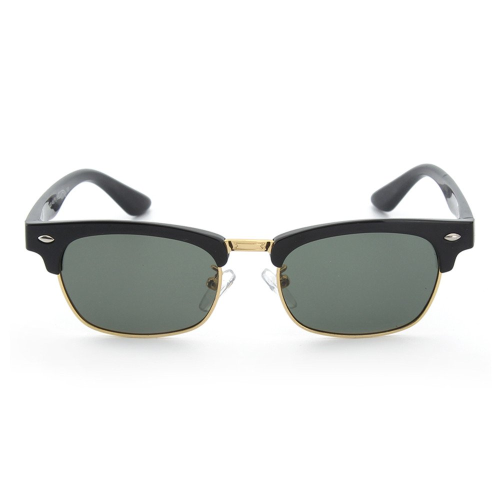 Rivet Decoration Boys and Girls Metal Frame Polarized Sunglasses with Box UV Predection Kids Ages 3 to 12 (color   C3)