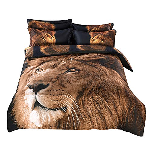 lion print bedding