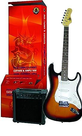 Delson pacs1 00sb de del - Guitarra eléctrica (Strato Sunburst, con accesorios), color negro: Amazon.es: Instrumentos musicales