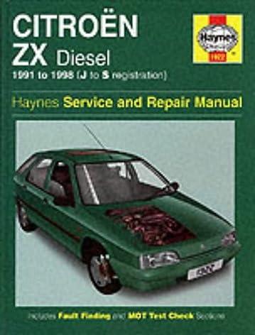 citroen zx diesel 91 98 haynes repair manual haynes service and rh amazon co uk citroen bx haynes manual pdf citroen bx haynes manual