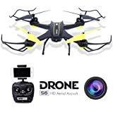 drones with camera,Dwi Dowellin RC Quadcopter Drone with HD Camera 0.3MP Wifi FPV 2.4G 4CH 6 Axis Au