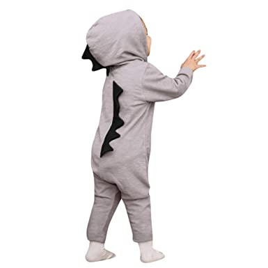 44f76e2a1a9 Scaling♥Baby Romper Jumpsuit♥Newborn Infant Baby Boy Girl Hooded Dinosaur  Romper Jumpsuit Outfits