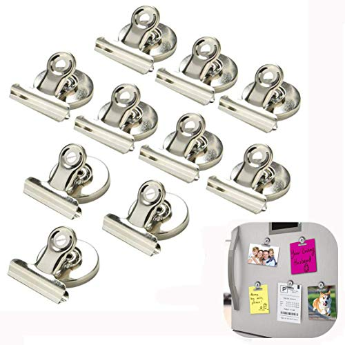 WETONG Strong Magnets Clips 10pcs Scratch-resistant Refrigerator Magnet Clips Perfect Strong magnetic force Mini Clip Magnets for House Office School Use, Hanging Home Decoration, Photo Displays