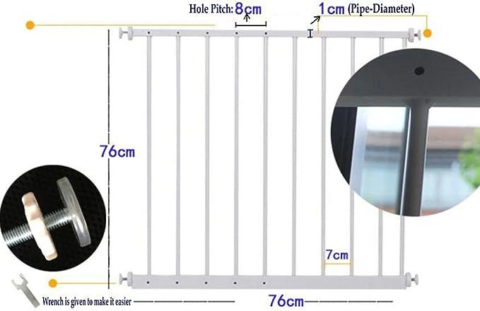 80/ blanco /284/cm blanco blanco Talla:Fit up 80-92 cm//31.5-36.2 in Hada beb/é ajustable seguridad infantil Guardia de ventana rejillas de interior