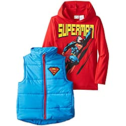 DC Comics Boys' Superman Vest and Hoodie Set