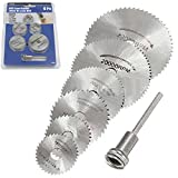 Adealink 6 Pcs HSS Metal Circular Saw Disc Wheel Blades Cut Off Dremel Drill Rotary Tools