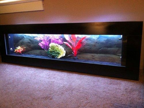 Amazon.com : Aussie Aquariums Wall Mounted Aquarium - Panoramic Black : Pet  Supplies