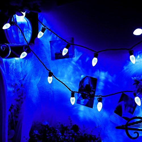 commercial gradeoutdoor led decorative string lights13 ft 25 c7 bulbblue led christmas lightswedding party garden festive mood lighting to bright your - Outside Led Christmas Lights