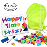white board with numbers - Magnetic Foam Letters and Numbers with Whiteboard and More 111 Pieces By Newisland