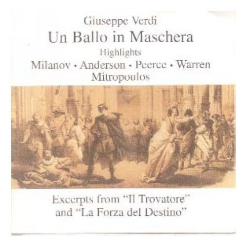 Verdi: Un Ballo in Maschera (Highlights / Excerpts) [1955 Studio Recording: Milanov, Peerce, Warren, Anderson,  Mitropoulos]