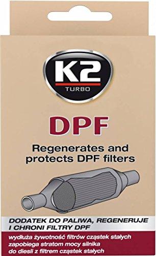 K2 - Aditivo para Motor Diesel para Filtro de particulas Diesel, Limpiador de inyectores, Limpiador de hollin del Filtro de particulas, 50 ml